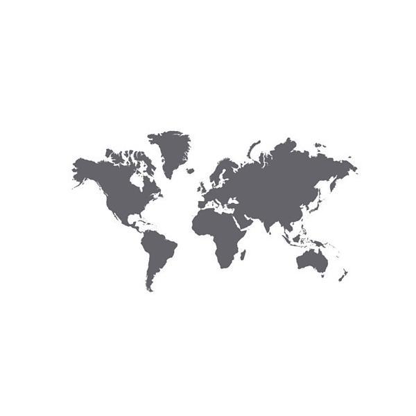 IKEA イケア デコレーションステッカー 黒板 世界地図 z10317904 KLATTA クレッタ