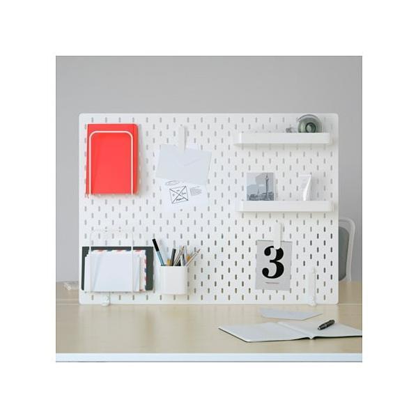 IKEA イケア ペグボードコンビネーション ホワイト z49217376 SKADIS スコーディス