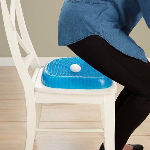 ゲルクッション 無重力エッグシッター 椅子用 通気性抜群 腰痛 座布団 蜂の巣デザイン 体圧分散 ゲルクッション ジェルシート デスクワーク ドライブ|clair2020|03