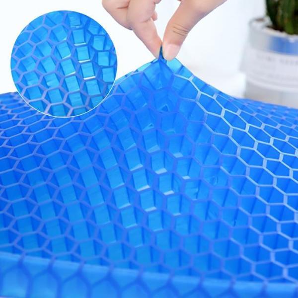 ゲルクッション 無重力エッグシッター 椅子用 通気性抜群 腰痛 座布団 蜂の巣デザイン 体圧分散 ゲルクッション ジェルシート デスクワーク ドライブ|clair2020|07