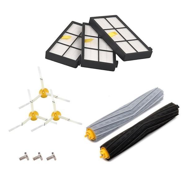 ルンバ800 900シリーズと互換性のある部品 対応互換 消耗品 フィルター エアロブラシ エッジクリーニングブラシ 8点|clairdelune9126