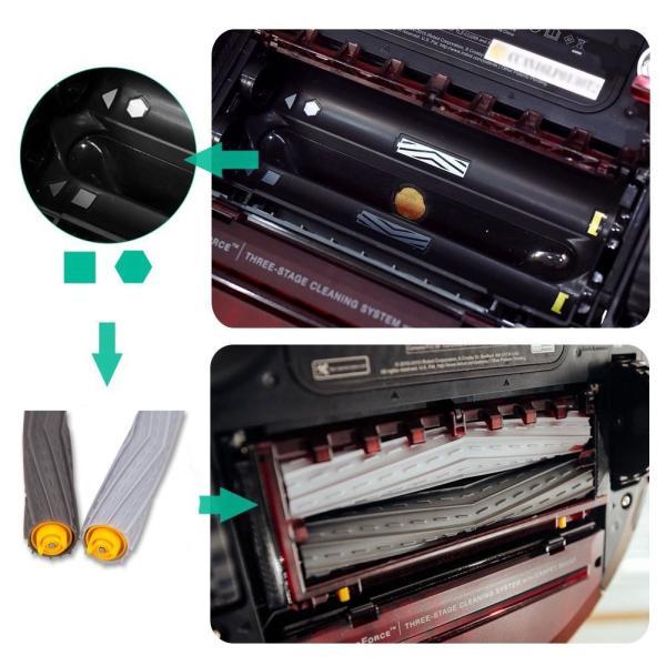 ルンバ800 900シリーズと互換性のある部品 対応互換 消耗品 フィルター エアロブラシ エッジクリーニングブラシ 8点|clairdelune9126|04