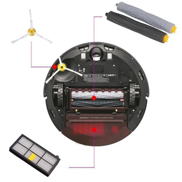 ルンバ800 900シリーズと互換性のある部品 対応互換 消耗品 フィルター エアロブラシ エッジクリーニングブラシ 8点|clairdelune9126|05