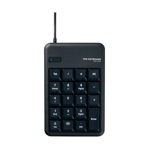 テンキーパッド TK-TCM012 Mサイズ メンブレン USB 2.0 HUB付 ブラの画像
