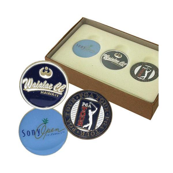 ハワイ ゴルフ スポーツ おしゃれ ワイアラエC.C ボールマーカーBOXセット  3個入り