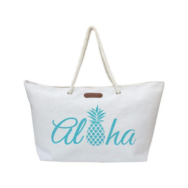 バッグ レディース トート 普段使い 旅行 Island Heritage ロープハンドルビーチトートバッグ アロハパイナップル 可愛い おしゃれ ハワイアン雑貨 clara-hawaii