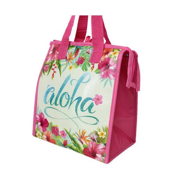 ハワイアン雑貨 保冷バッグ おしゃれ ランチバッグ 弁当 ハワイ スモール ランチバッグ アロハフローラル Island Heritage ネコポス 送料無料