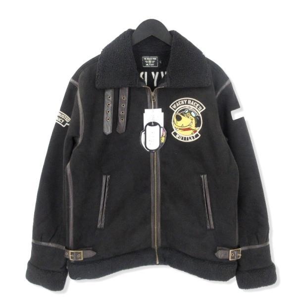 未使用 THE BRAVEMAN ザブレイブマン B-3 16-01584 ケンケン ブラック魔王 フライトジャケット 黒 ブラック L メンズ  中古 20012502|classic
