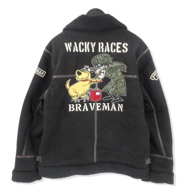未使用 THE BRAVEMAN ザブレイブマン B-3 16-01584 ケンケン ブラック魔王 フライトジャケット 黒 ブラック L メンズ  中古 20012502|classic|02
