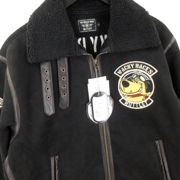 未使用 THE BRAVEMAN ザブレイブマン B-3 16-01584 ケンケン ブラック魔王 フライトジャケット 黒 ブラック L メンズ  中古 20012502|classic|03