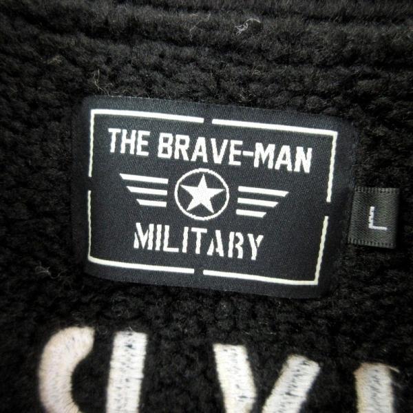 未使用 THE BRAVEMAN ザブレイブマン B-3 16-01584 ケンケン ブラック魔王 フライトジャケット 黒 ブラック L メンズ  中古 20012502|classic|05