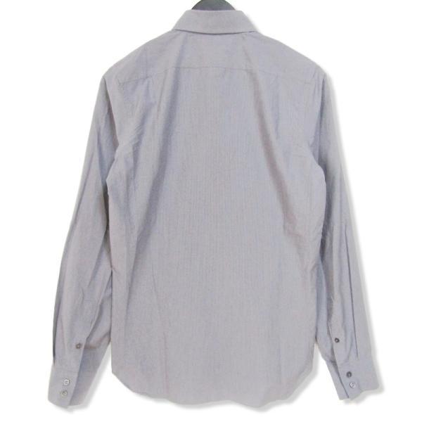 JIL SANDER ジルサンダー 長袖ドレスシャツ ストライプ ボタンダウン グレー 14.5 メンズ  中古 27002336|classic|02