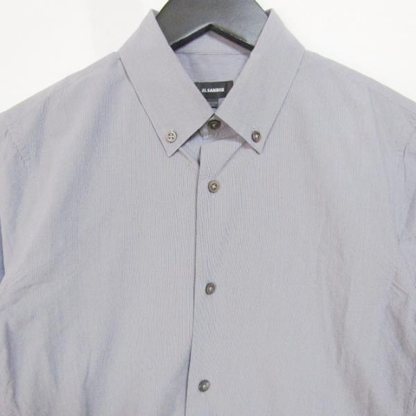 JIL SANDER ジルサンダー 長袖ドレスシャツ ストライプ ボタンダウン グレー 14.5 メンズ  中古 27002336|classic|03