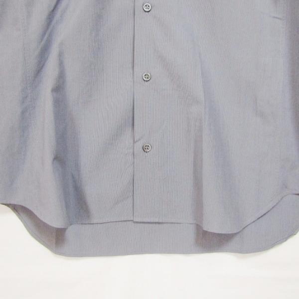 JIL SANDER ジルサンダー 長袖ドレスシャツ ストライプ ボタンダウン グレー 14.5 メンズ  中古 27002336|classic|04