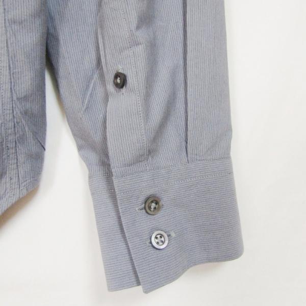 JIL SANDER ジルサンダー 長袖ドレスシャツ ストライプ ボタンダウン グレー 14.5 メンズ  中古 27002336|classic|05