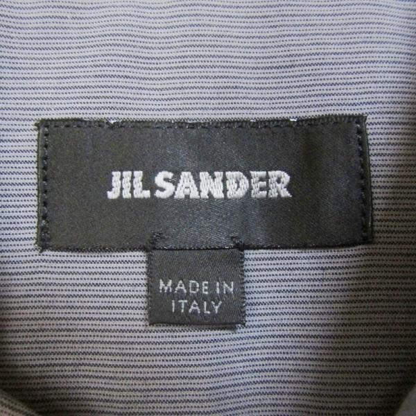 JIL SANDER ジルサンダー 長袖ドレスシャツ ストライプ ボタンダウン グレー 14.5 メンズ  中古 27002336|classic|06