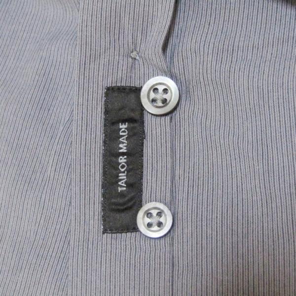JIL SANDER ジルサンダー 長袖ドレスシャツ ストライプ ボタンダウン グレー 14.5 メンズ  中古 27002336|classic|07