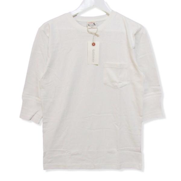未使用 GLADHAND グラッドハンド 5分袖Tシャツ GLADHAND-16 クルーネック 無地 コットン Tee ホワイト 白 S タグ付き メンズ  中古 27003787|classic