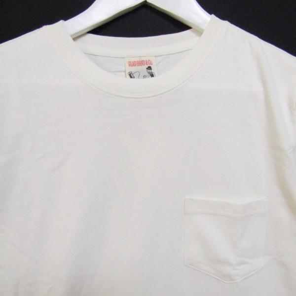 未使用 GLADHAND グラッドハンド 5分袖Tシャツ GLADHAND-16 クルーネック 無地 コットン Tee ホワイト 白 S タグ付き メンズ  中古 27003787|classic|03