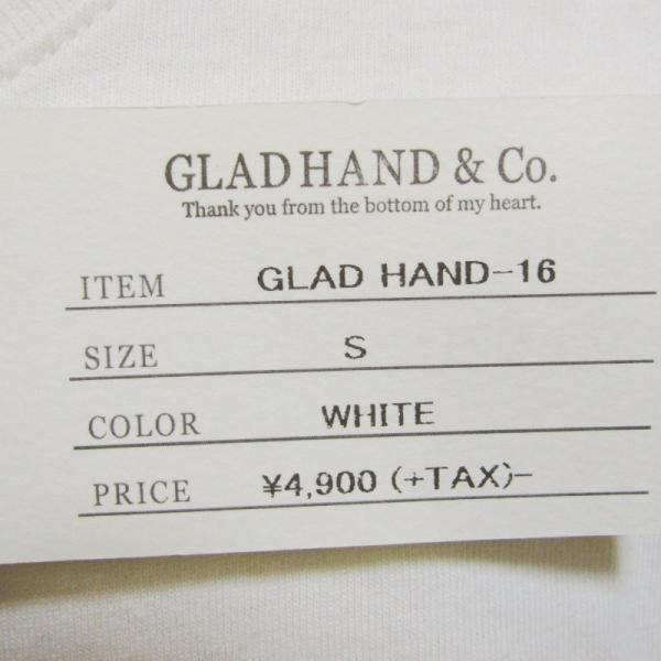 未使用 GLADHAND グラッドハンド 5分袖Tシャツ GLADHAND-16 クルーネック 無地 コットン Tee ホワイト 白 S タグ付き メンズ  中古 27003787|classic|05