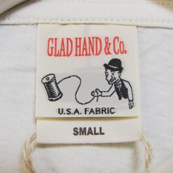 未使用 GLADHAND グラッドハンド 5分袖Tシャツ GLADHAND-16 クルーネック 無地 コットン Tee ホワイト 白 S タグ付き メンズ  中古 27003787|classic|06