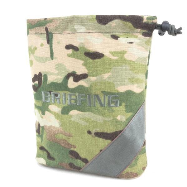 未使用BRIEFINGブリーフィングミニポーチノベルティ巾着カモ迷彩バッグ鞄中古65001250