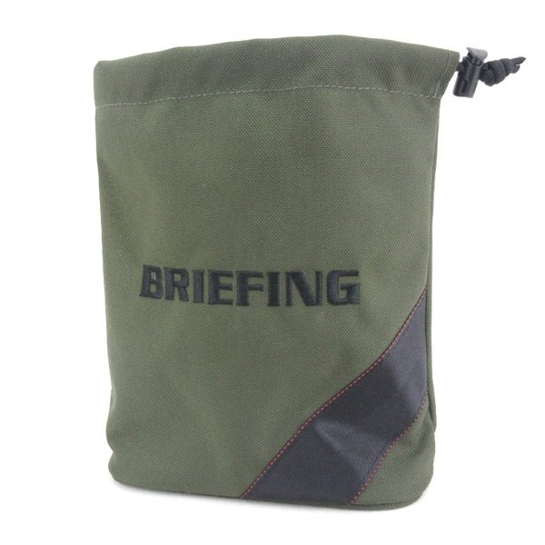 未使用BRIEFINGブリーフィングミニポーチノベルティポーチ巾着オリーブグリーン緑バッグ鞄 中古 65001251