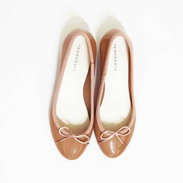 TEMPERATEテンパレイト/バレエシューズ パンプス ヒール ピンクベージュ 37 23cm 23.5cm レインシューズ 靴 レディース BESSベス フラットシューズ 通販