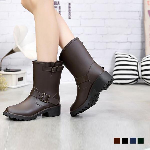 エンジニアブーツ風レインブーツ /サイズSS〜LL/23cm〜25cm/レインブーツ/レディース/防水/撥水/長靴|classical