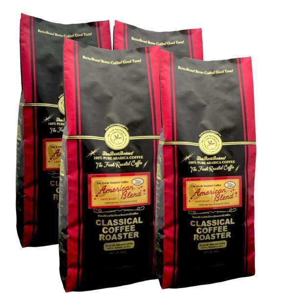 コーヒー 珈琲  コーヒー豆 2kg アメリカン ブレンド コーヒー 1.1lb 500g 4個セット 豆 or 挽|classicalcoffee