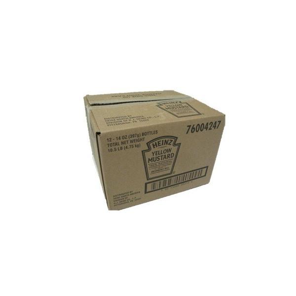 マスタード HEINZ ハインツ イエローマスタード イージースクイーズ 逆さボトル 396G ×12本(1ケース)