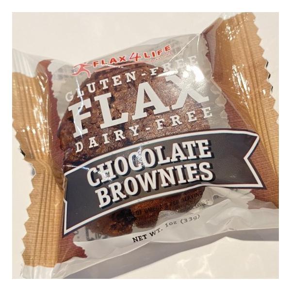 フラックス・ブラウニー チョコレート 33g 1ケース(12個入)個包装 グルテン・コレステロール・トランス脂肪酸フリー
