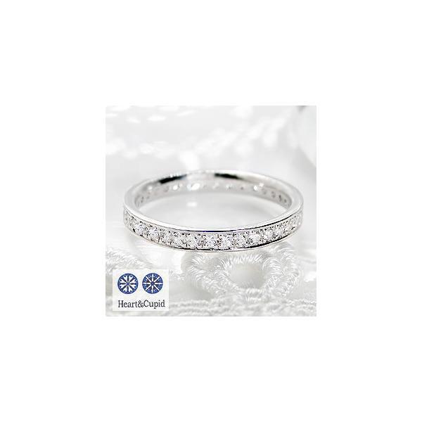 ダイヤモンドフルエタニティリング ハートアンドキューピッド pt950  0.3ct 指輪 レディース H&C フルエタニティ ピンキー CRS0192-pt