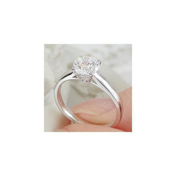 pt950 プラチナ ダイヤモンド ダイヤ 指輪 リング 一粒石 1カラット 大粒 エンゲージ 1.00ct CSR0208-pt
