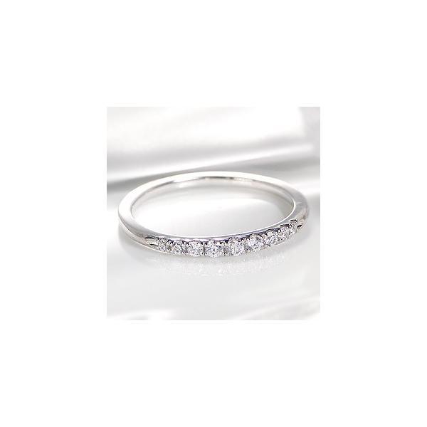 pt900 プラチナ ダイヤモンド ダイヤ 指輪 リング グラデーション エタニティ 0.15ct シンプル CSR0220-pt