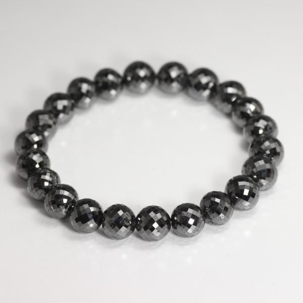 [プレミアム]ブラックダイヤモンドブレスレット(約10mm) 天然石 鉱物 パワーストーン 高品質 メンズ レディース 最高級
