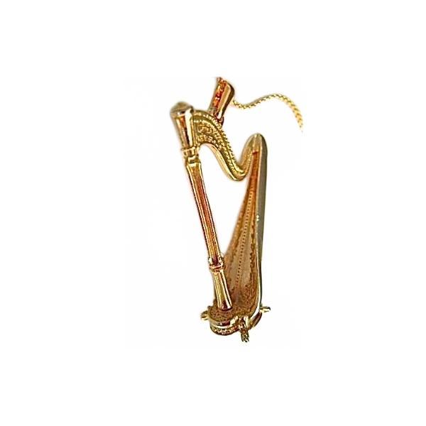 Necklaces & Pendants Pewter Harmony Jewelry Harp Necklace