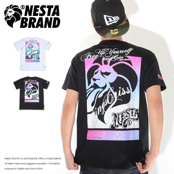 NESTA BRAND ネスタブランド Tシャツ 半袖 ベロ出しライオン バックボックスプリント (202NB1002)
