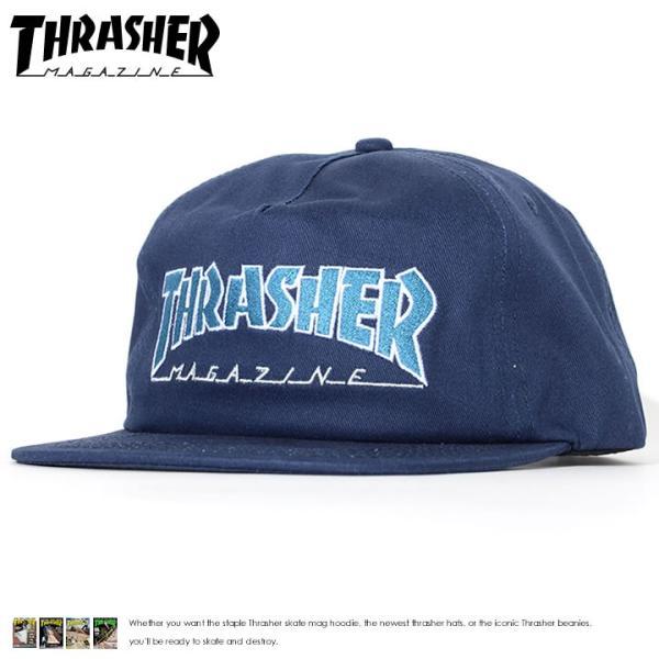 c99ba75799466 THRASHER スラッシャー キャップ 帽子 スナップバック MAGロゴ刺繍 ホワイトアウトライン (144662)|clever ...