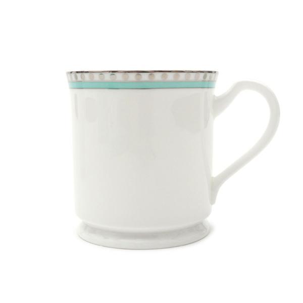 ティファニー プラチナブルーバンド マグカップ 2個セット ペア マグ 結婚祝い あすつく 新築祝い 新品 TIFFANY & CO. WHITE cliffedge 03