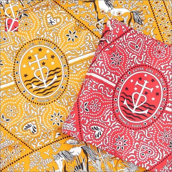 HERMES(エルメス)EntrecieletmerCarres55(バンダナ)(スカーフ)280-000114-013+ 新品