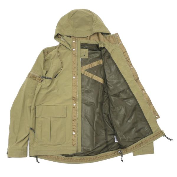 YUNY Men Thickened Warm with Hood Pockets Plus-Size Jacket Coat Khaki 2XL
