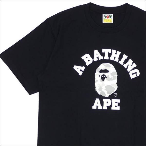 A BATHING APE (エイプ) CITY CAMO COLLEGE TEE (Tシャツ) BLACKxWHITE 1E30-110-020 200-007824-051x【新品】(半袖Tシャツ)|cliffedge