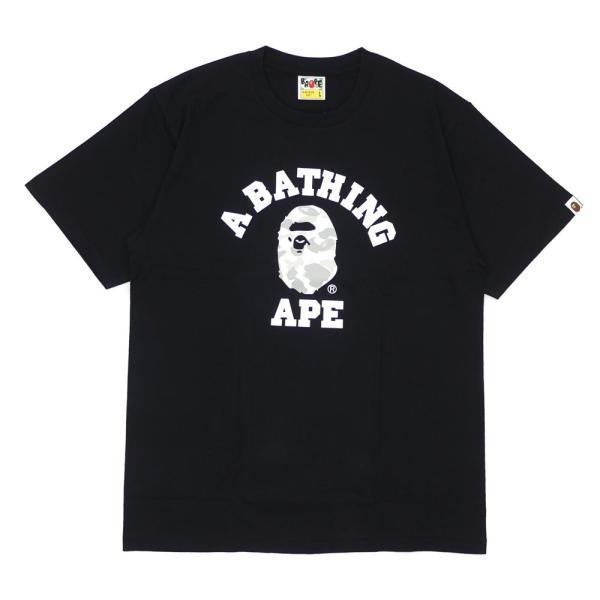 A BATHING APE (エイプ) CITY CAMO COLLEGE TEE (Tシャツ) BLACKxWHITE 1E30-110-020 200-007824-051x【新品】(半袖Tシャツ)|cliffedge|02