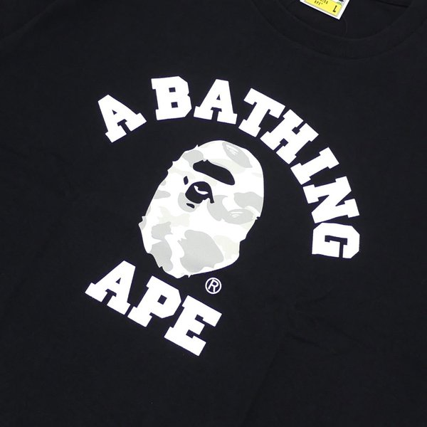 A BATHING APE (エイプ) CITY CAMO COLLEGE TEE (Tシャツ) BLACKxWHITE 1E30-110-020 200-007824-051x【新品】(半袖Tシャツ)|cliffedge|03