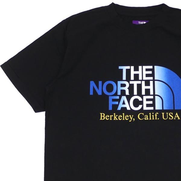 新品 ザ・ノースフェイス パープルレーベル THE NORTH FACE PURPLE LABEL 5.5oz H/S Logo Tee ロゴ Tシャツ BLACK ブラック 新作 NT3928N 半袖Tシャツ|cliffedge