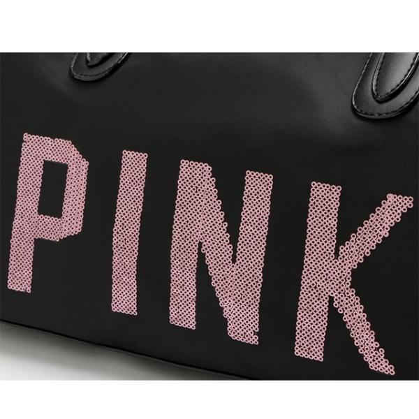 【送料無料】ヴィクトリアシークレット バッグ VICTORIA'S SECRET ビクトリア ピンク ボストンバッグ ショルダーバッグ 2way PINK climb-f 04