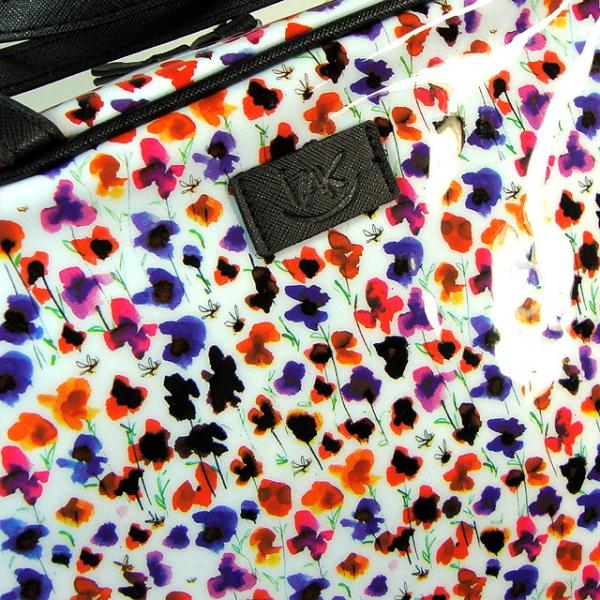 IZAK アイザック Vinyl Toiletry Bag コスメバッグ 化粧バッグ プチフラワー 小花柄