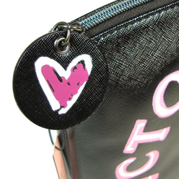 【送料無料】VICTORIA'S SECRET Graffiti Beauty Pouch ヴィクトリアシークレット ポーチ 小物入れ コスメポーチ 大きめ ブラック|climb-f|05