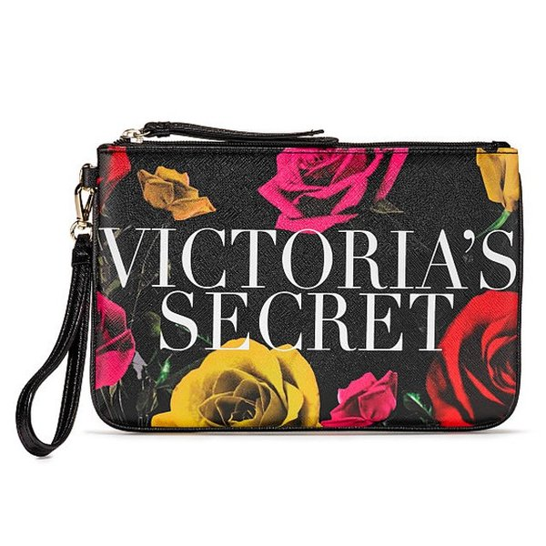 【送料無料】VICTORIA'S SECRET Bold Floral Night Out Wristlet ヴィクトリアシークレット クラッチ ポーチ リストレット 花柄 ネコポス 代引き決済不可|climb-f